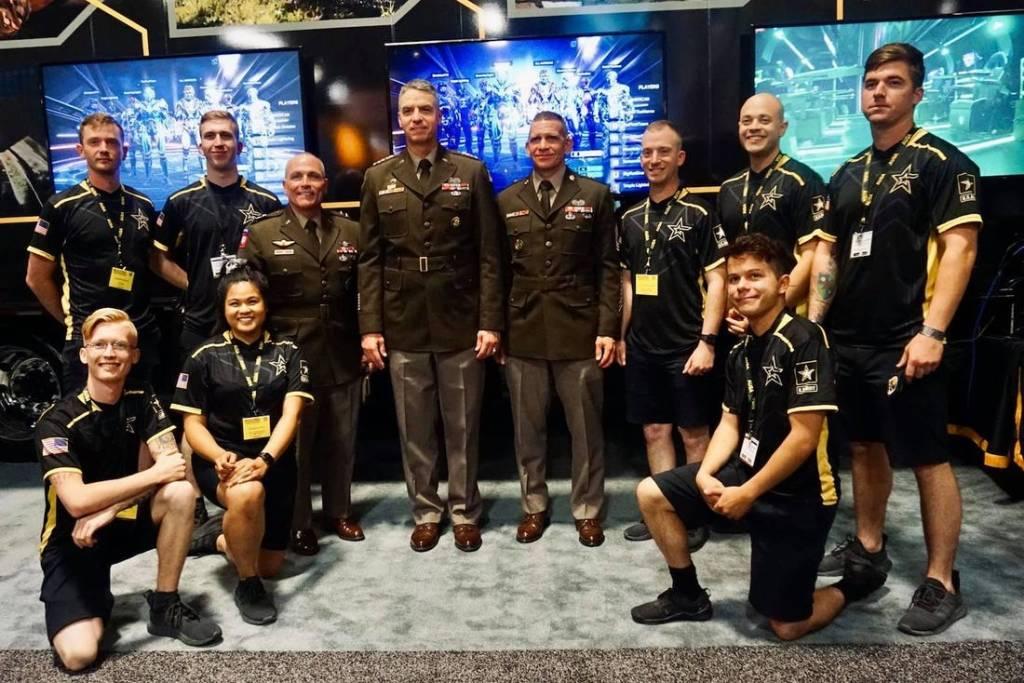 U.S. Army Esports team at an event